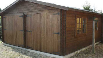 Double Garage 44mm Timbers