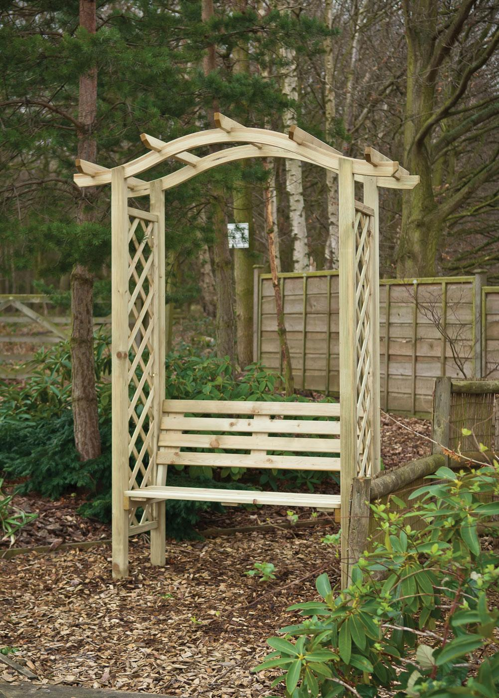 Omega Top Arbour With Seat Earnshaws Fencing Centres