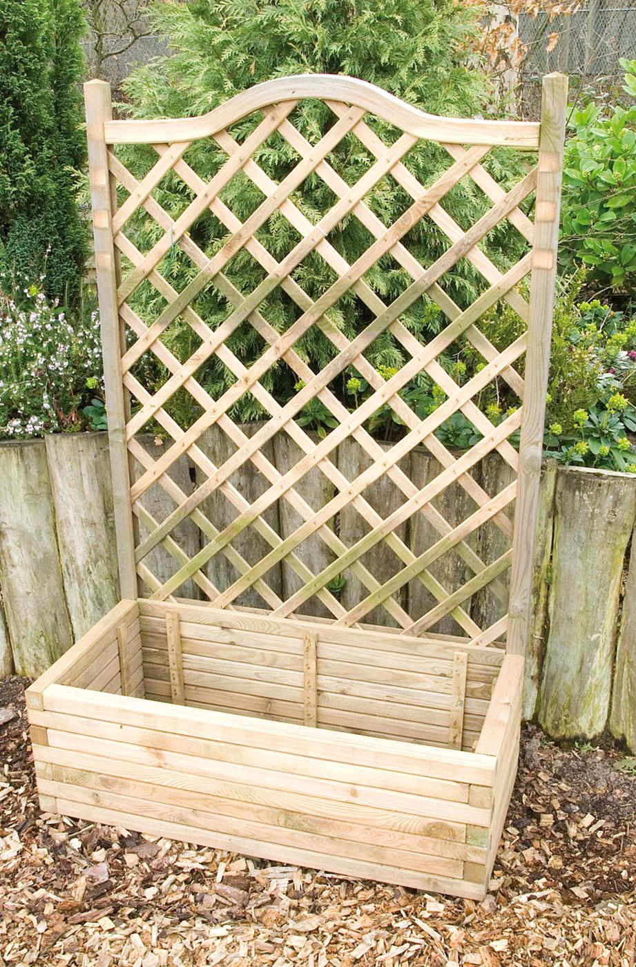 Planter And Trellis on timber home furniture