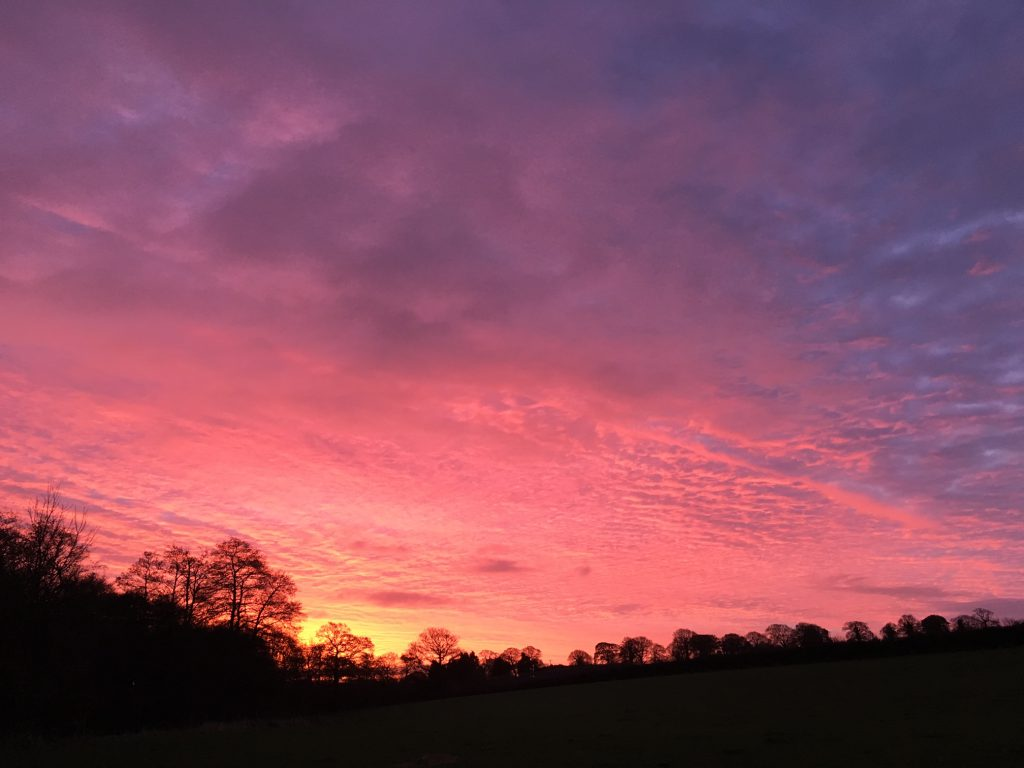 Red sky in the morning - shepherds warning