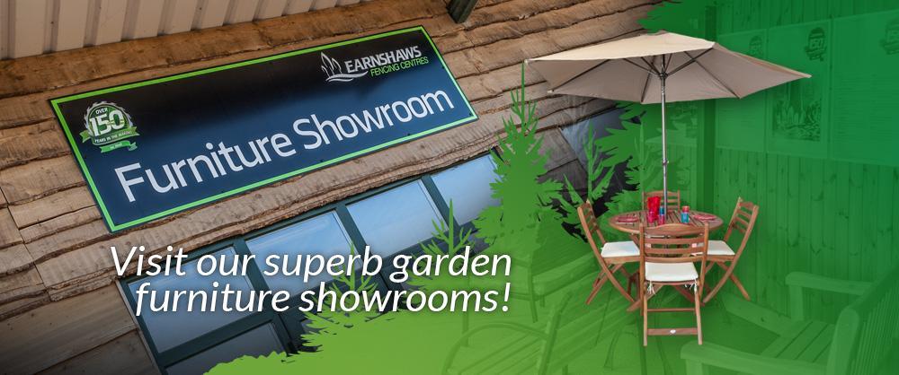Visit our superb garden furniture showrooms