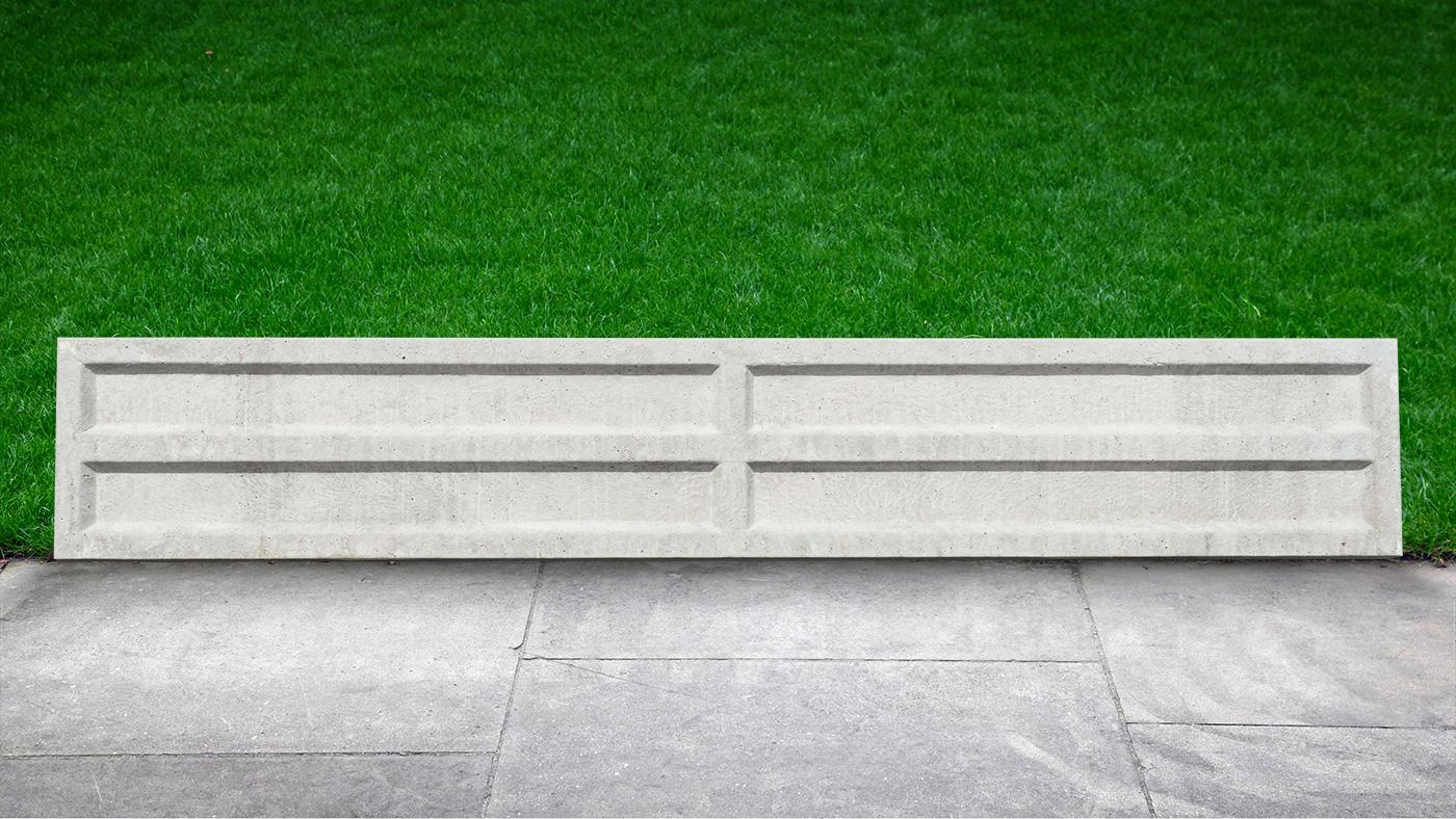 Dry Cast Concrete Rock-faced Gravel Boards - Earnshaws