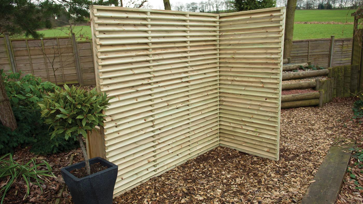 Top Venetian Slatted Fence Panel - Earnshaws Fencing Centres LT08