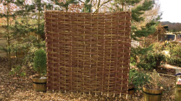 Woven Willow Fence Panel