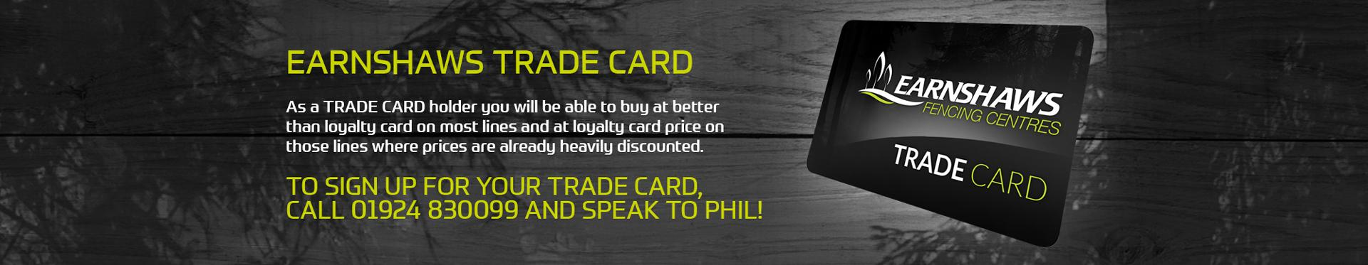 Earnshaws Trade Card