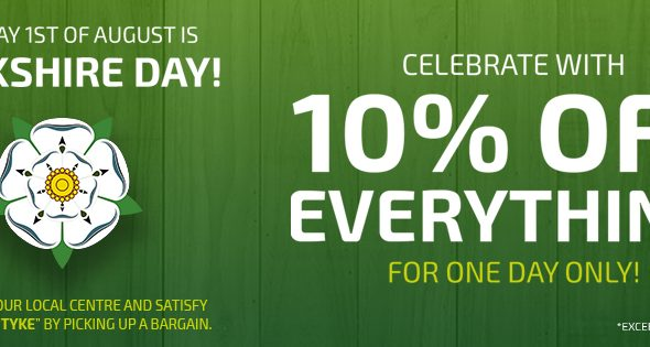 Celebrate Yorkshire Day with 10% Off Everything*