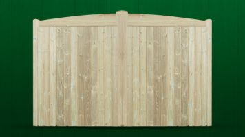 Stocksmoor Bow Top Driveway Gate