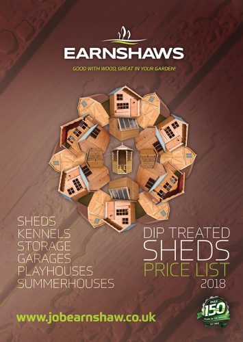 NEW 2018 Earnshaws Sheds Price List