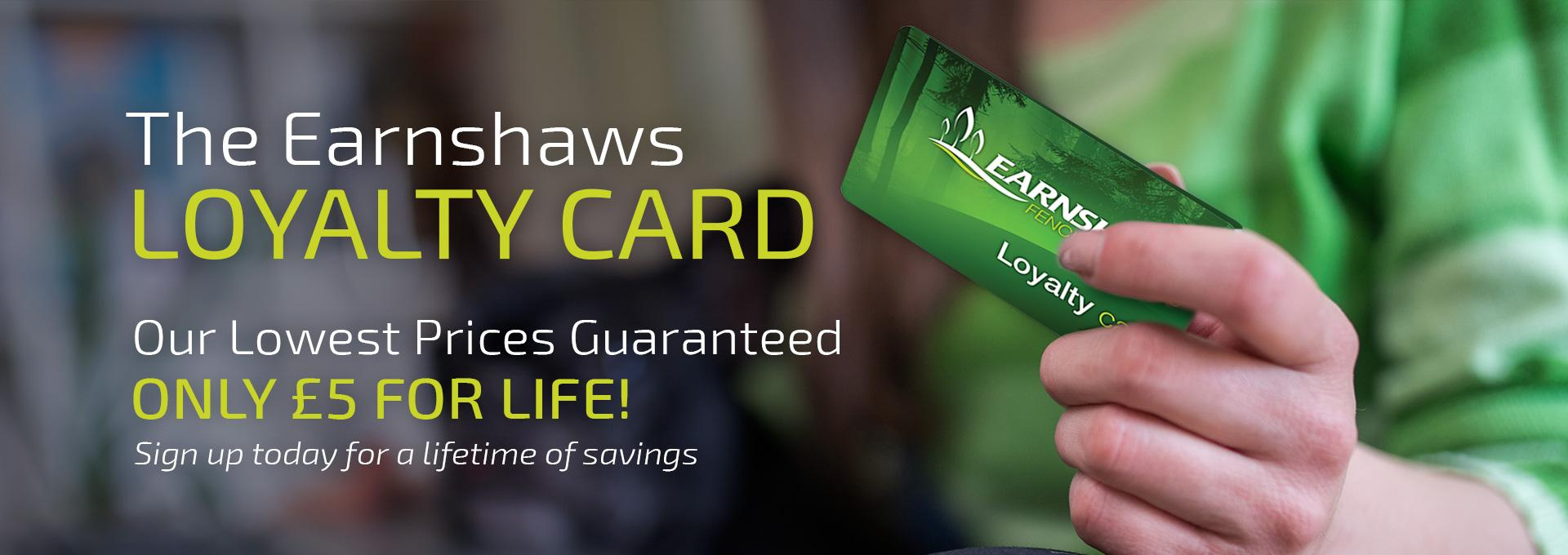 Earnshaws Fencing Centres Web Banner Loyalty Card