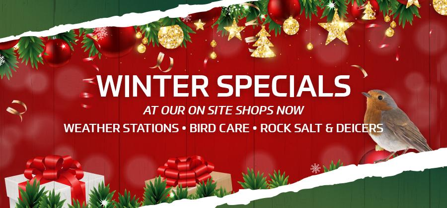 Winter Specials in store now