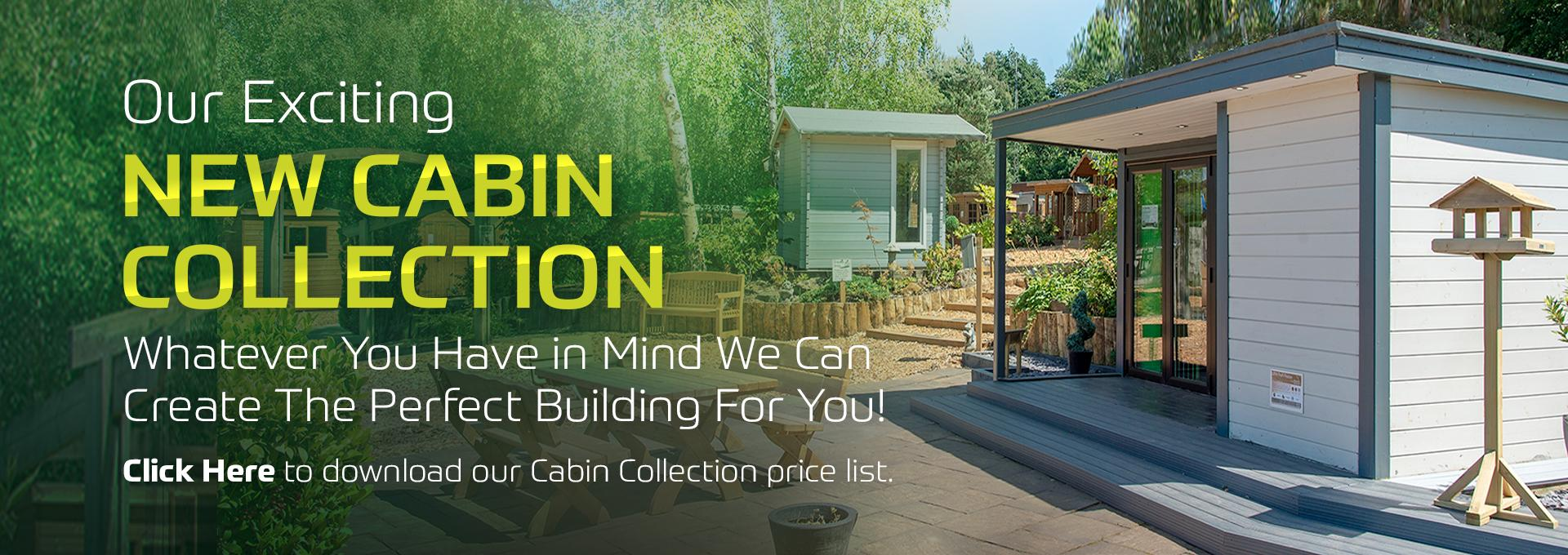 New cabin collection at earnshaws fencing centres