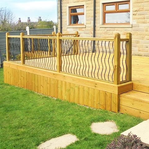Traditional wooden decking - Earnshaws Fencing Centre