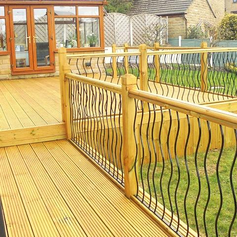 Traditional timber deck panels - Earnshaws Fencing Centre