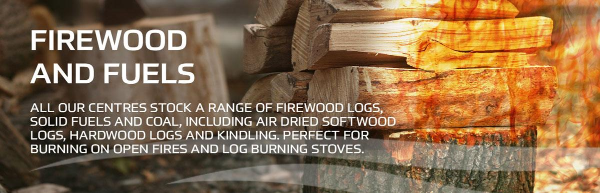 Firewood and Fuels main page banner at Earnshaws Fencing Centre