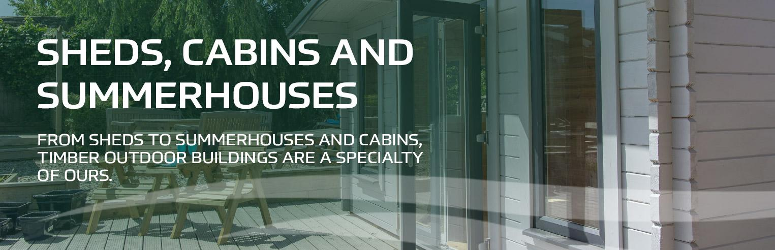 Sheds and cabins banners
