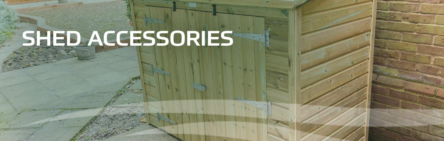 Shed accessories at earnshaws fencing centres header
