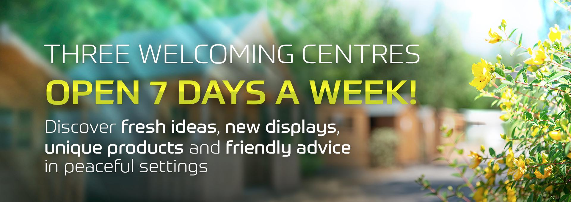 We are open 7 days a week at earnshaws fencing centres
