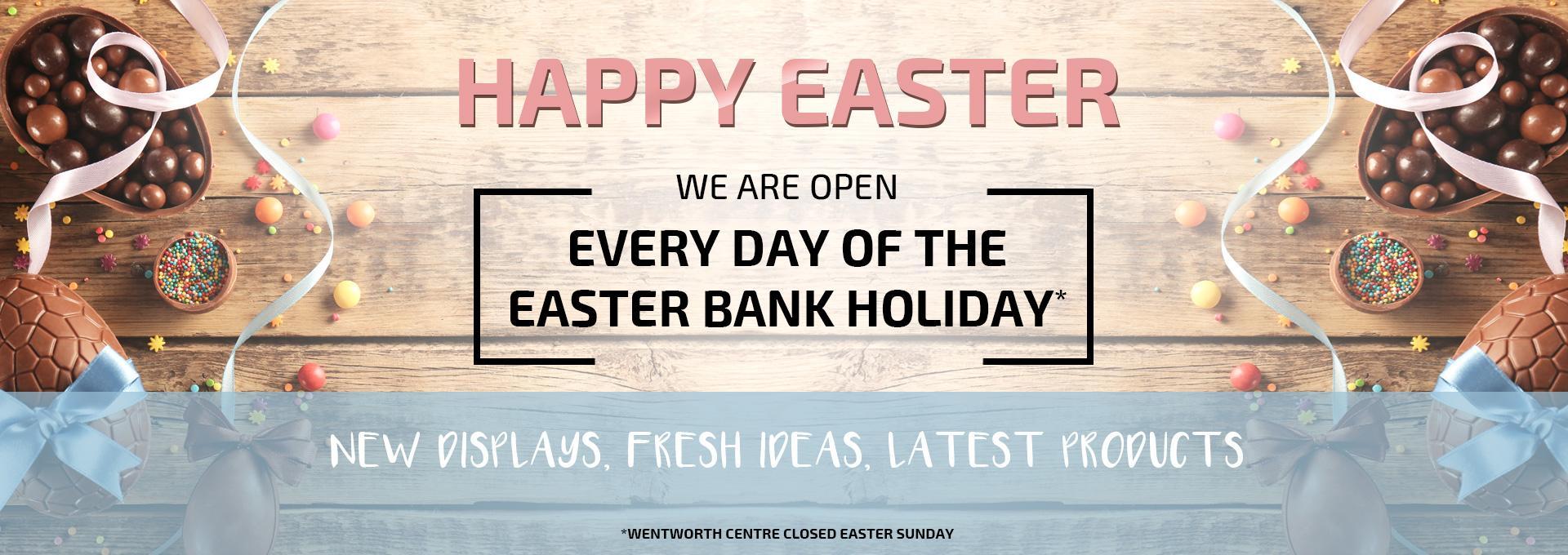 Easter desktop web banner for earnshaws fencing centre