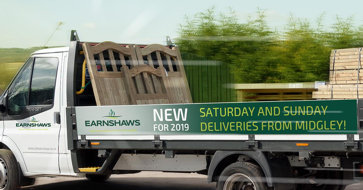 earnshaws midgley centre now deliver on saturdays and sundays