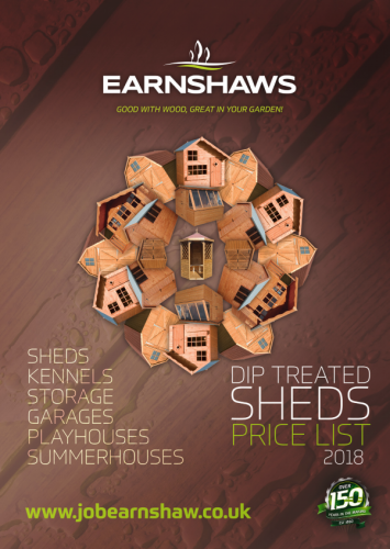 Earnshaws fencing centres sheds price list 2018