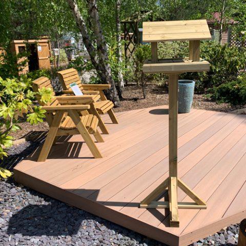 bird table at earnshaws fencing centres