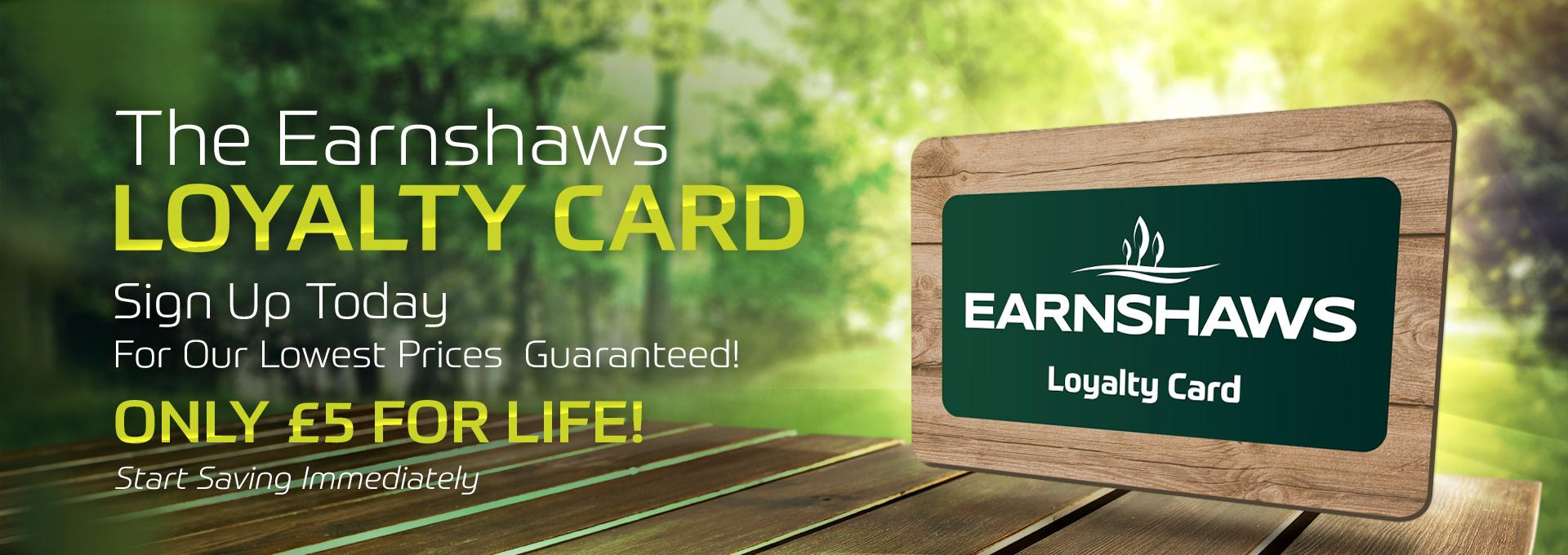 EARNSHAWS LOYALTY CARD Header Banner