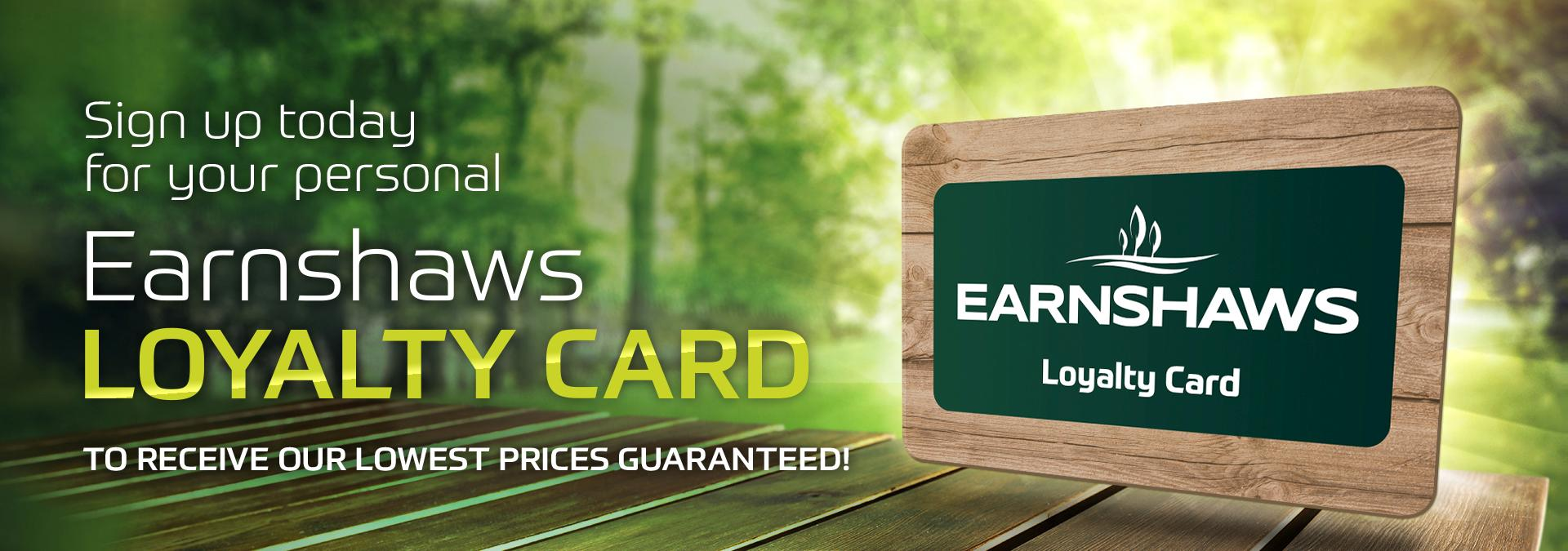 EARNSHAWS LOYALTY CARD