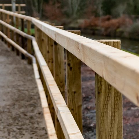 post and rail fencing at earnshaws fencing centres
