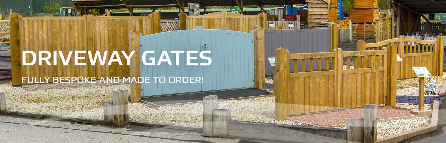 Driveway gates at Earnshaws fencing centres header