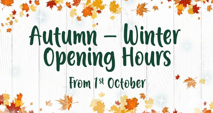 Autumn Winter Opening Hours Earnhaws Fencing Centres