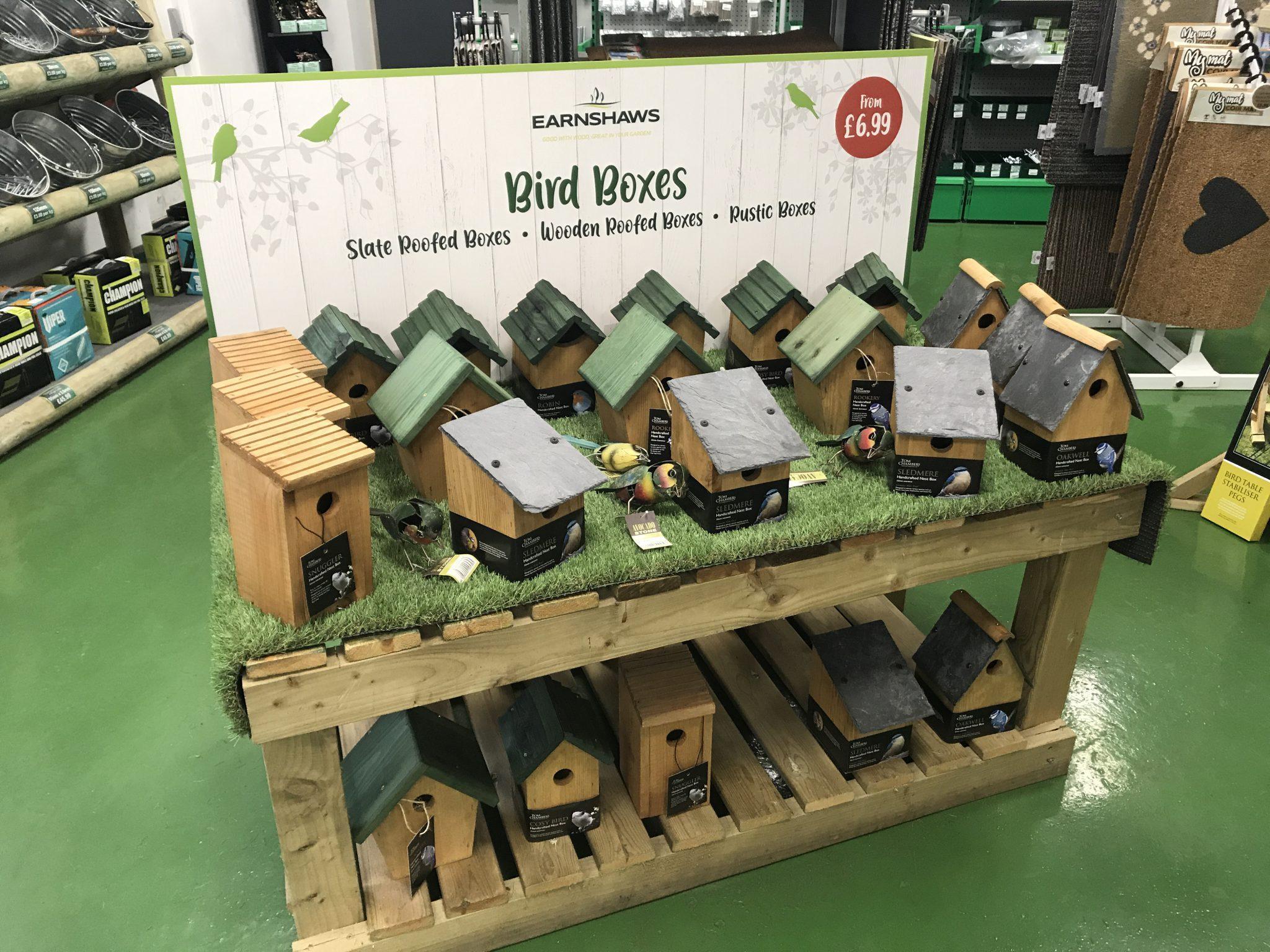 bird houses in garden earnshaws