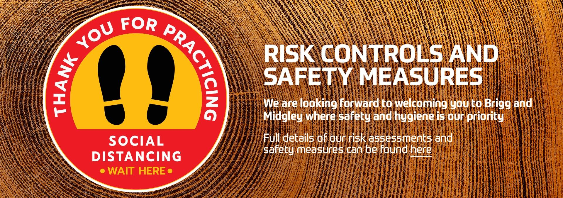 Click here for our risk assessments and safety measures