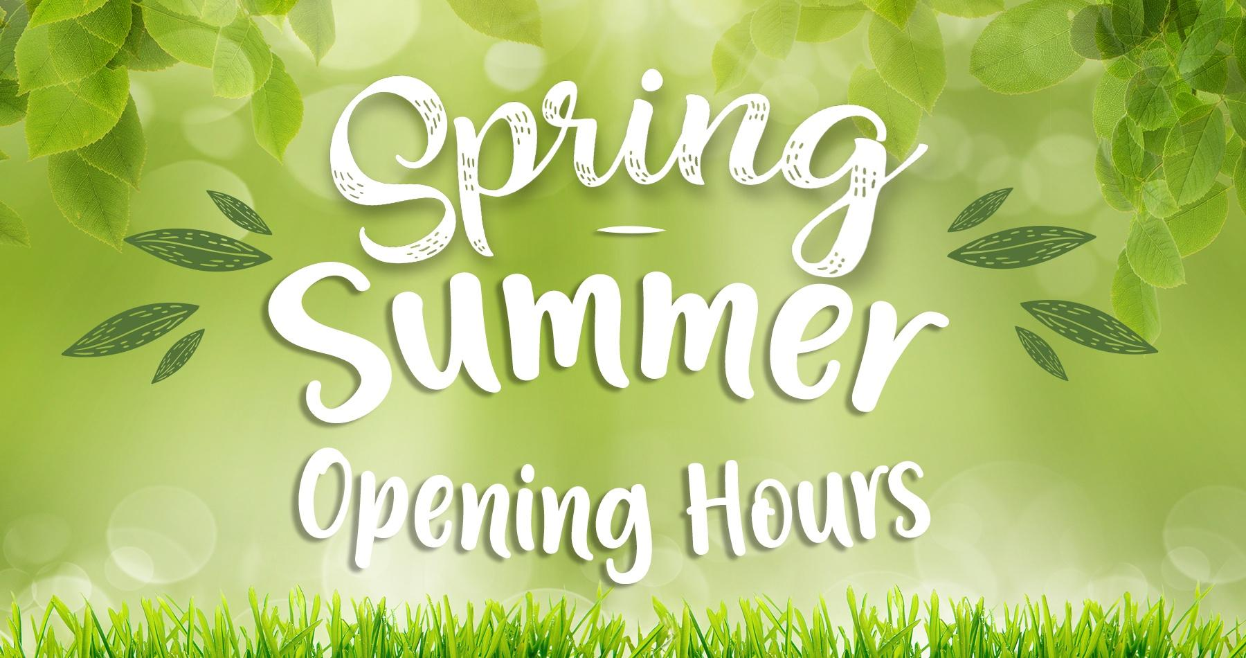 Spring Opening Hours at Earnshaws