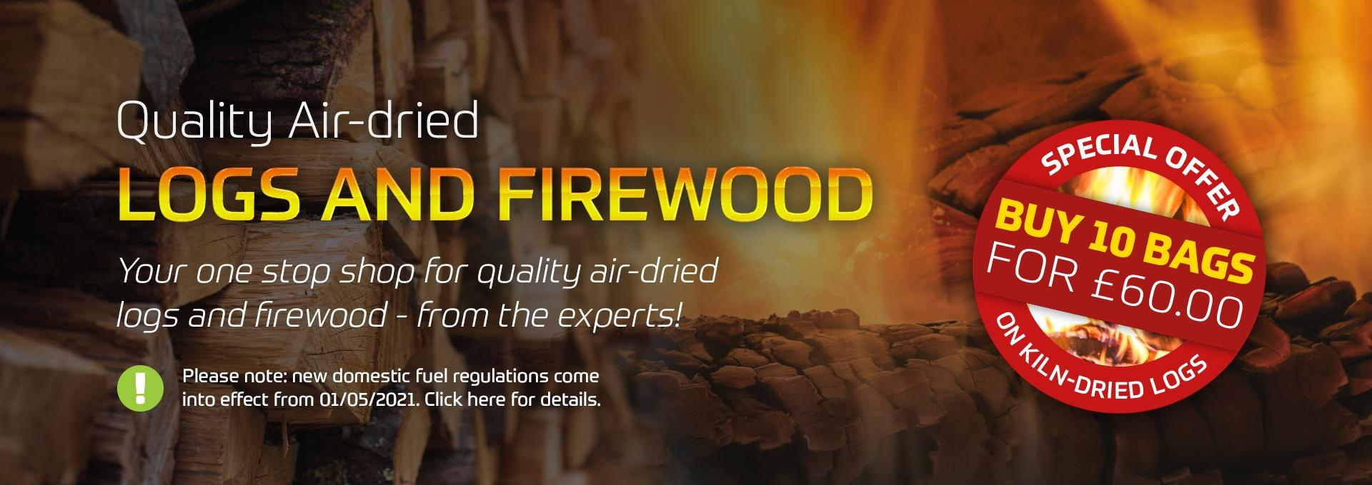Quality air dried logs and firewood - Earnshaws