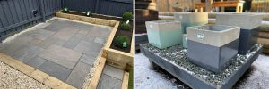 Timber Sleepers and Pots