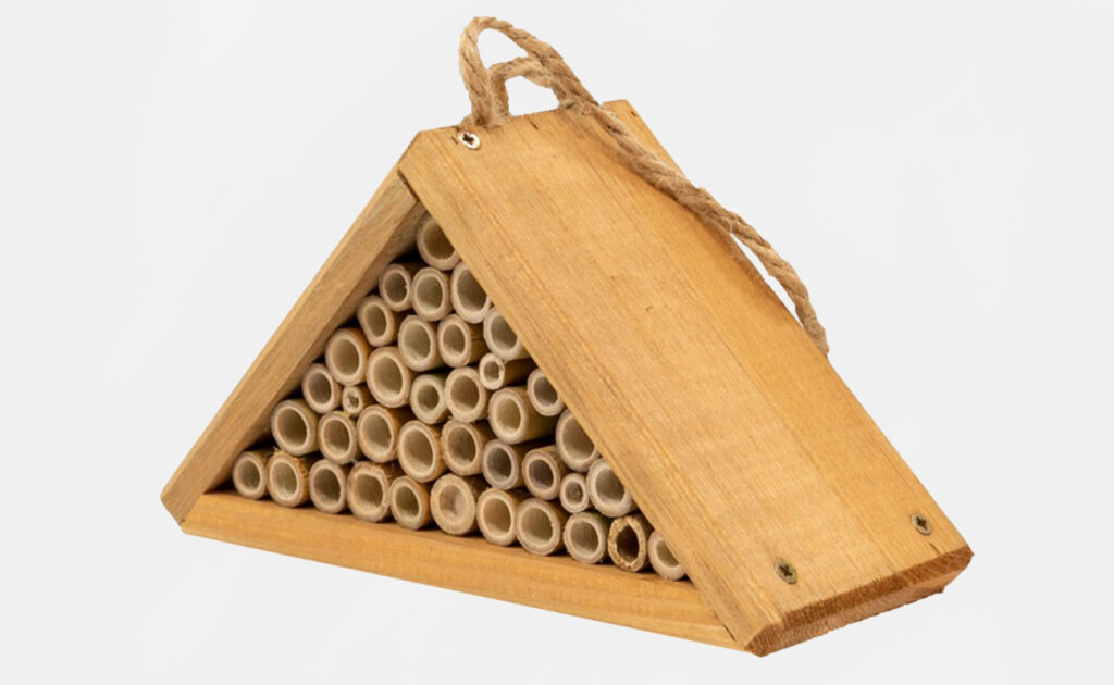 Triangular insect hotel from Earnshaws