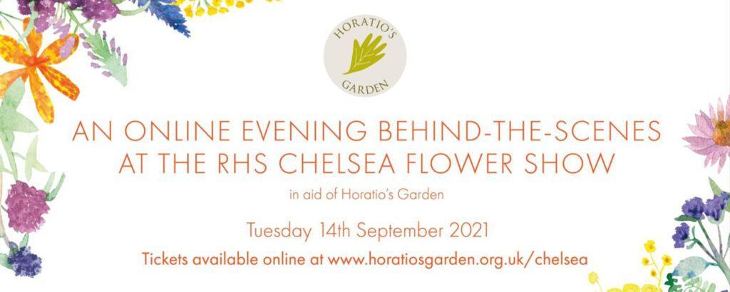 RHS Chelsea Flower Show online event with Horatio's Garden