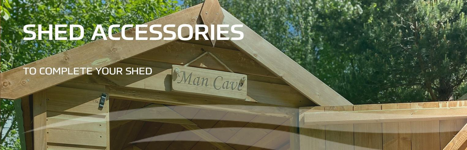 Shed Accessories at Earnshaws - Timber accessories for sheds